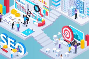 SEO Project Isometric Composition