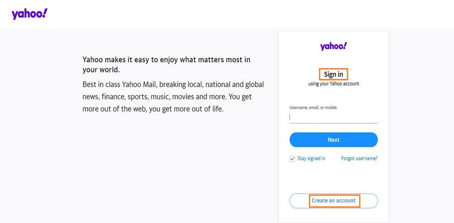 Concerning Yahoo Mail Account Creation, Sign-in Process & Login Issues